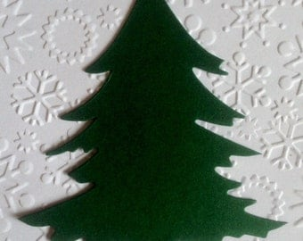 15 large Green Christmas Tree die cuts for christmas cards toppers cardmaking scrapbooking craft project