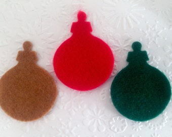 30 Christmas Sizzix Festive Felt Bauble Ornament  for Card Making Card Toppers Scrapbooking Stitch Craft Project Children's Craft