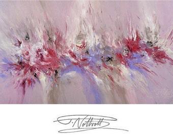 "59.1 "" x 29.5 "". Large Abstract Painting Original  Acrylic on Canvas Modern Art. Artist Peter Nottrott."