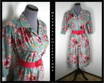 Vintage CALIFORNIA LOOKS floral dress • Material Collections