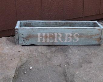 Herb planter/Handcrafted wood HERB box/window herb box/planter/table centerpiece/wedding