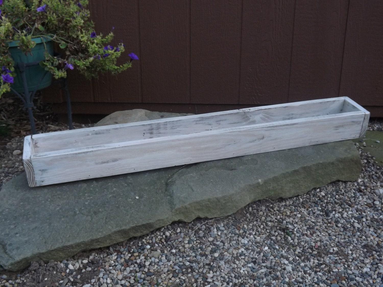 Trough white table centerpiece wedding box planter