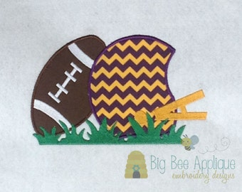 Football Applique Design Embroidery