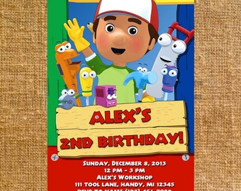 Customized Handy Manny Birthday Party Invite - Digital File