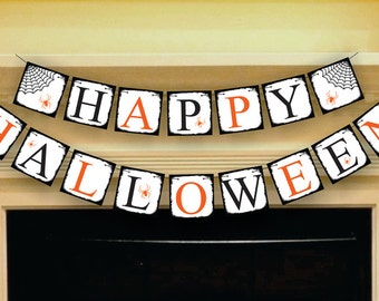 Halloween Banner - Sign - Garland - Party Photo Prop