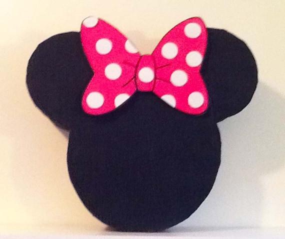 piñata de cara minnie mouse piñata personalizada por aldimyshop