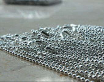 silver plated ball chain necklaces