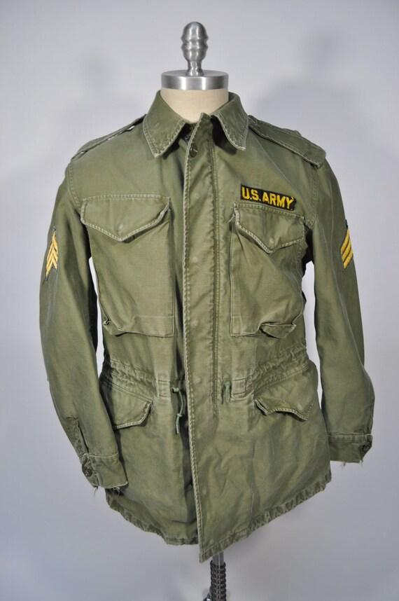 Vintage Army Jacket M65 Military Field Coat Og 107 Regular