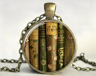 Library Book Necklace, Book Pendant,Book Jewelry,Gift for ...