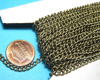30 Ft /Spool Antique Bronze Cable Chains Links-Opened 4x3mm(No.832)