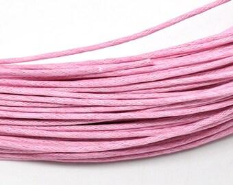 30ft Pink Wax Cotton Cord Bracelet Necklace Cord 1.5mm (No.722)