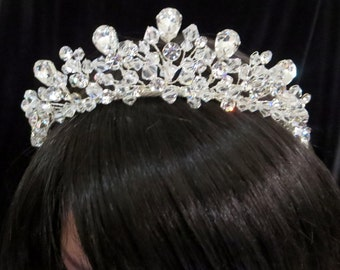 Bridal Tiara, Wedding Tiara, Bridal headpiece, Wedding headpiece, Crystal headpiece, Rhinestone tiara