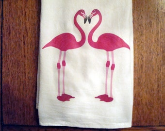 Flour Sack Towel, Kitchen, Towel Tea Towel (Flamingo)