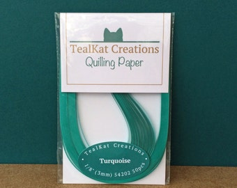 Turquoise Quilling Paper