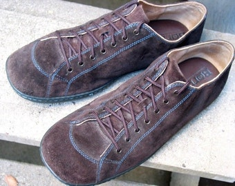 Vintage Born Brown Suede Leather Casual Oxfords 13