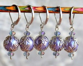 Grandmother's Lavender Crochet Stitch Markers