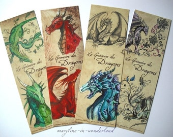 "Bookmark ""book of dragons"""