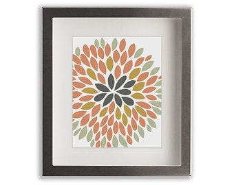 Chrysanthemum Art Print (i) - large art, gift idea, wall decor, floral, flower, mum, living room decor, dining room, modern floral art