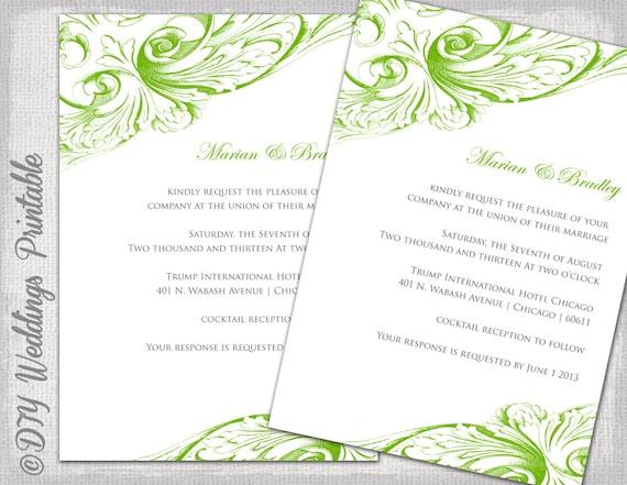 Scroll Design Wedding Invitations with beautiful invitation sample