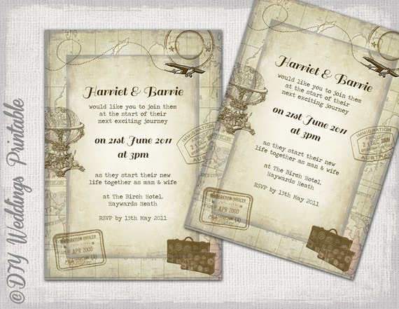 Buy Wedding Invitations Online Uk: Destination Wedding Invitations Template Travel