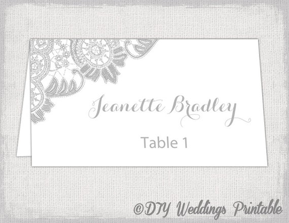 Exhilarating image inside free printable wedding place cards