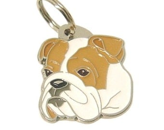 Custom engraved pet tag BULLDOG