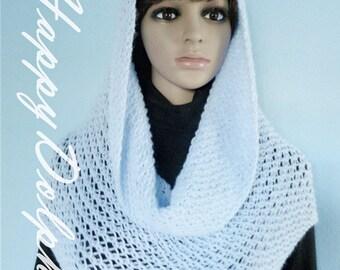 Blue scarf, shawl