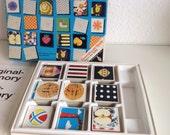 Vintage Ravensburger Original Memory, uit jaren zestig, 126 mooie vintage memory kaartjes, getekend door Eames