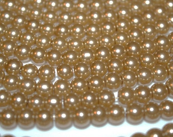 Champagne Glass Pearls - 10mm - 43ct