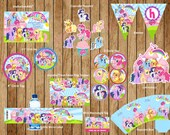 My Little Pony - Personalized Birthday Party Package, My Little Pony Invitation, DIY  Printable Digital File.