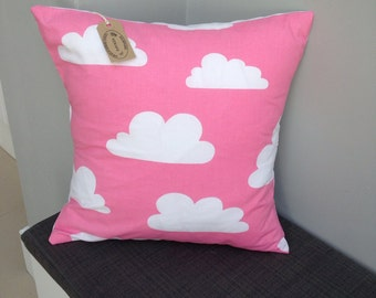 "Scandinavian farg and form cloud pink white 16"" cushion cover"
