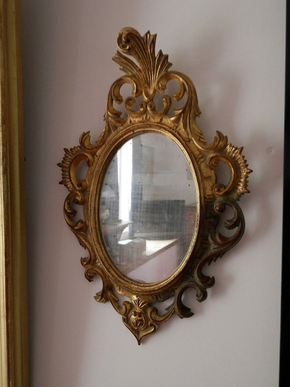 Antique French Gilded Wood Wall Mirror 1890s Rococo French