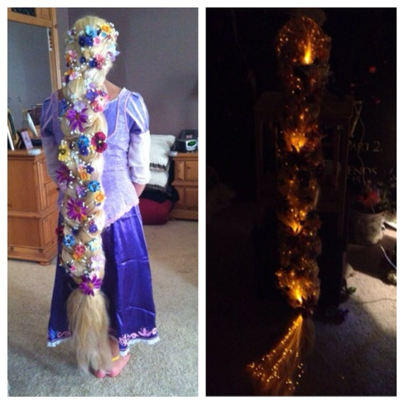 Tangled Glowing Rapunzel Inspired 5 Foot Long Blonde Braided - photo #32