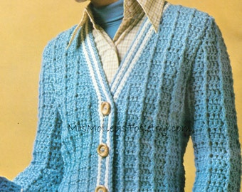 V neck crochet pullover sweater pattern by MissMotleysToo ...