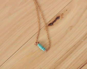Small Bead//Turquoise Necklace