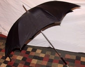 240 Antique Art Deco unisex Umbrella in New Old Stock Near mint condition 36 inches tall
