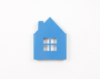 House Wall Hook - Blue // Nursery Decor // Kids Room Decor