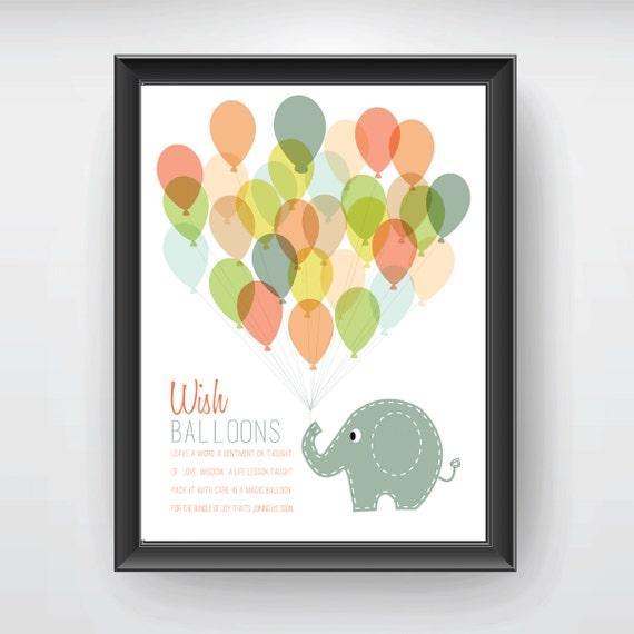 baby shower keepsake game printable art print elephant and 30