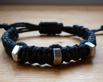 Men's Chunky Nut Bracelet / Male Bracelet Adjustable / unisex