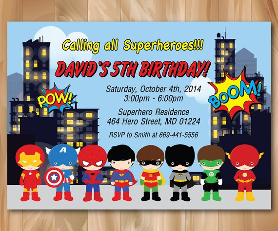 Superhero Newspaper Invitation Template as Perfect Style To Make Beautiful Invitations Ideas