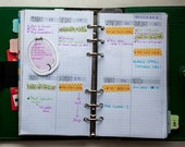 Personal diary insert - Vertical week on two page (WO2P) PRINTABLE