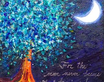 "Moonbeams - Original 24""x24""x1.5"" Acrylic Painting/Mixed Media on Gallery Wrapped Heavy Duty Canvas"