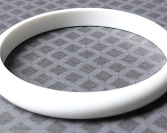 Simple White Bangle Bracelet - goes with anything!