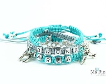 Macrame personalized bracelets