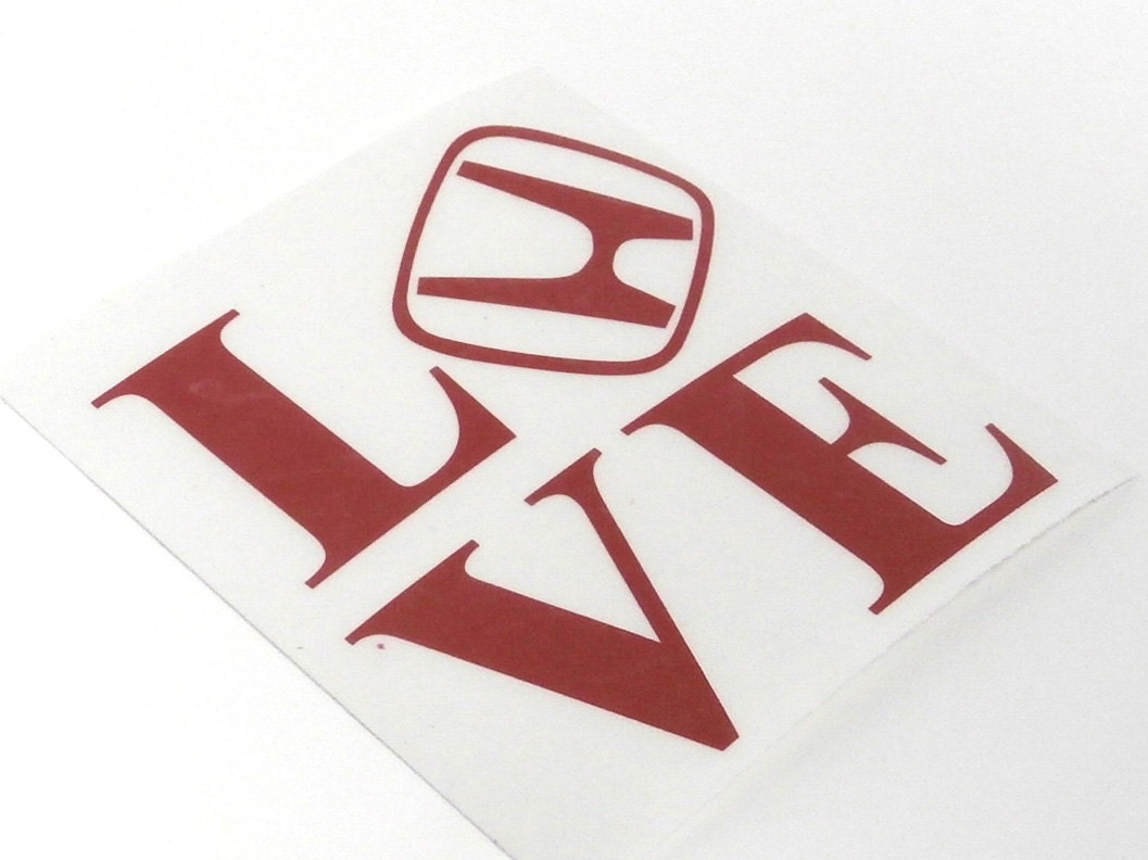 Honda Love sticker Decal