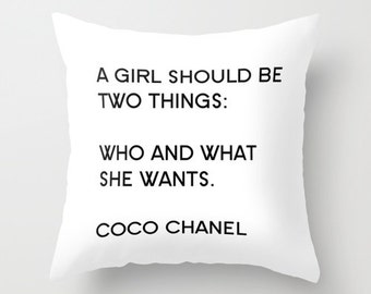 Inspirational Her Velvet Pillow Cover, Girls Bedroom Decor, Glam Decor, Dorm Pillows, Teen Girl Room Decor, 18x18, 22x22, Black and White
