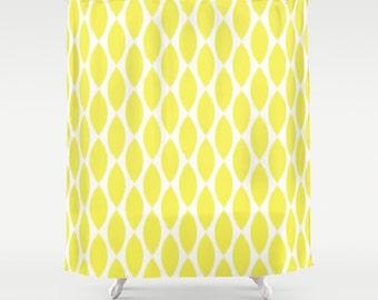 Shower Curtain - Yellow Petals - Yellow Shower Curtain - Girls Shower Curtain - Teen Shower Curtain - Dorm Shower Curtain - Yellow