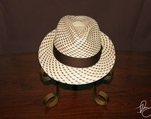 Panama Hat Japon Lunares Brown Fedora - Don Juan Hats are one of a kind panama hats hand-woven from straw.