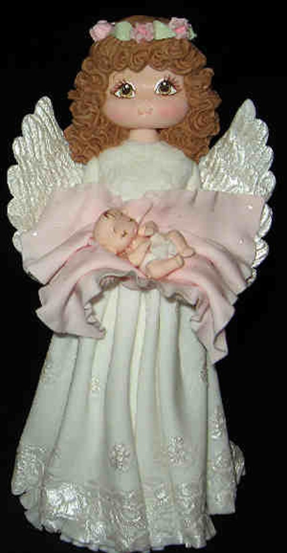 Cake Topper Angel Cake Topper Baby Baptism Decorations Angel