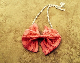 Lace Bow Necklace